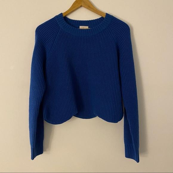 Aritzia Wilfred cropped knit Sardou sweater